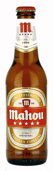 Mahou Cinco Estrellas - Spanish Beer, 6 Pack