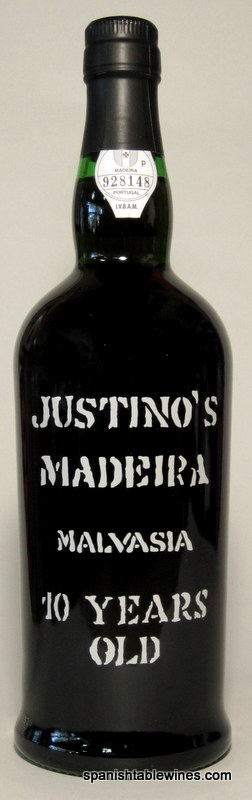 Justinos 10 Years Old Malvasia - Madeira